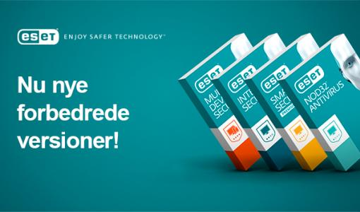 ESET lancerer forbedret portefølje med forbrugerprodukter, der tilbyder det højeste beskyttelsesniveau