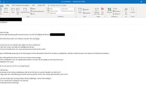 ESET registrerer en bølge av flerspråklige e-post-baserte (s)extortion-forsøk på å skremme ofre til å betale