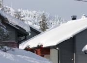 På skidanläggningen värms semesterbostäderna upp koldioxidneutralt