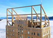 Världens högsta trähus Mjöstornet i Norge