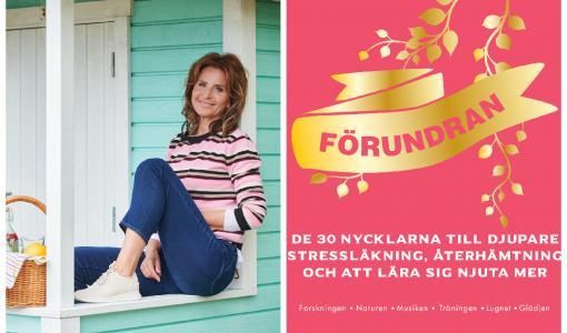 Maria Borelius, succéförfattaren till HÄLSOREVOLUTIONEN och BLISS, aktuell med FÖRUNDRAN – en ny, högaktuell populärvetenskaplig bok om konsten att läka stress och lära sig att njuta mer