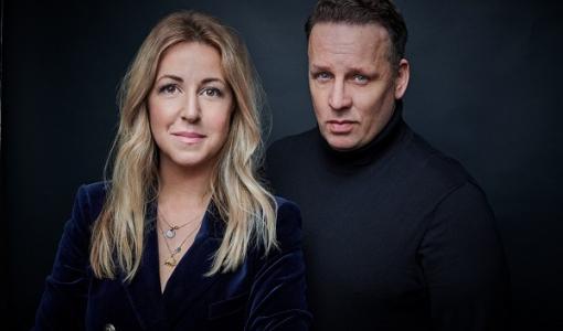 HarperCollins Nordic signar treboksavtal med nya författarduon Benjamin Andrée och Alexandra Appelqvist