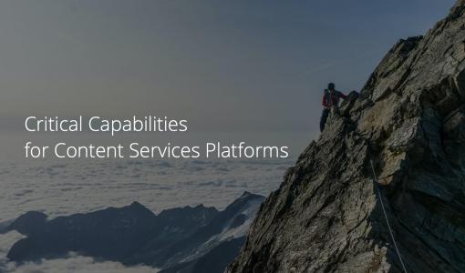 M-Files erkänd i Gartner 2020 Critical Capabilities for Content Services Platforms